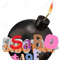 sabotage image bomb ready to explode